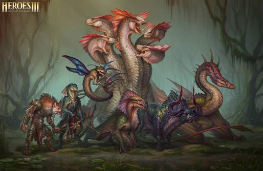 Heroes III Fan Art - Final Scale Comparison