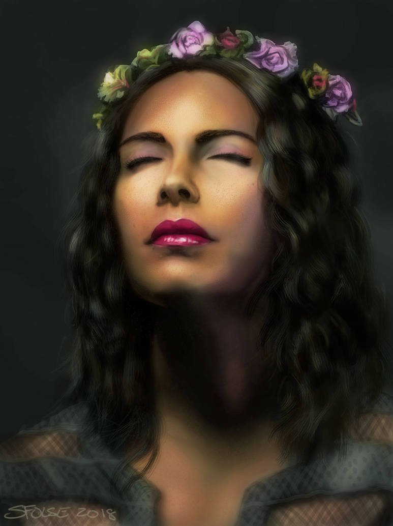 Portrait of a woman by sfolse