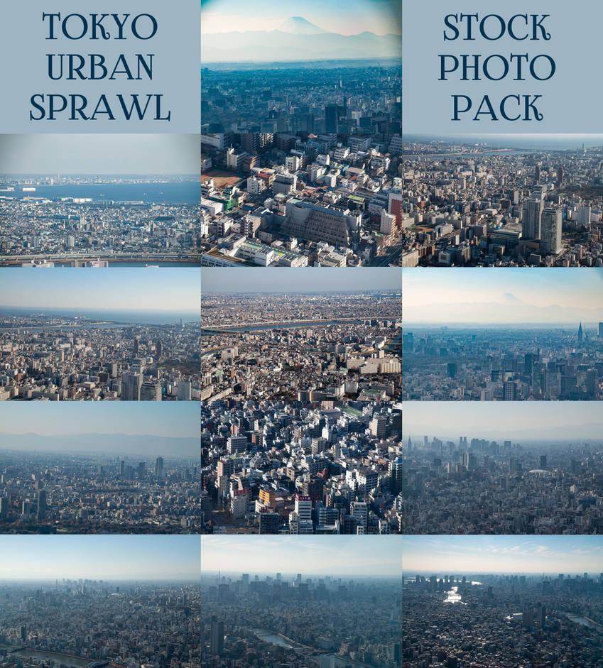 Tokyo Urban Sprawl Stock Photo Pack by sfolse