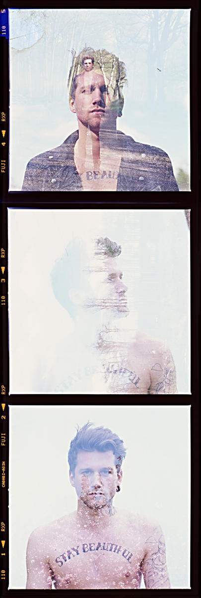 Double exposure film strip with Danny Schafer