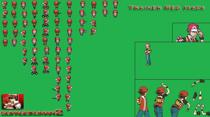 Pokemon Trainer Red Back Sprite