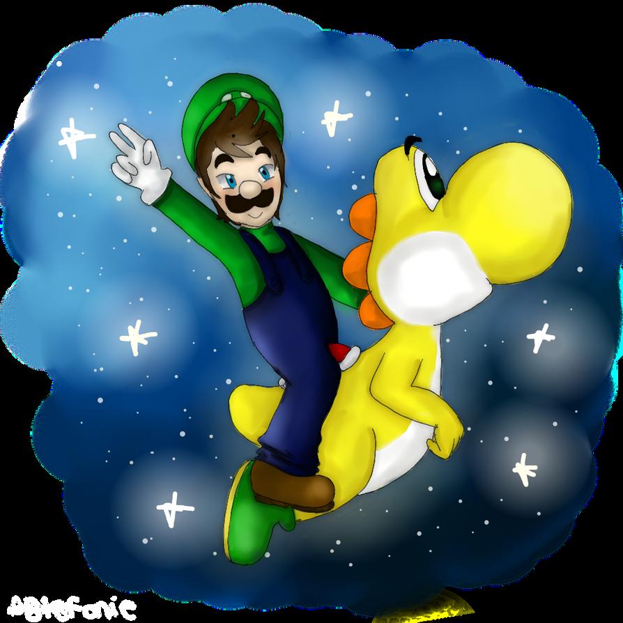 Commish: Luigi and Yoshi by AkiraHoshi-chan