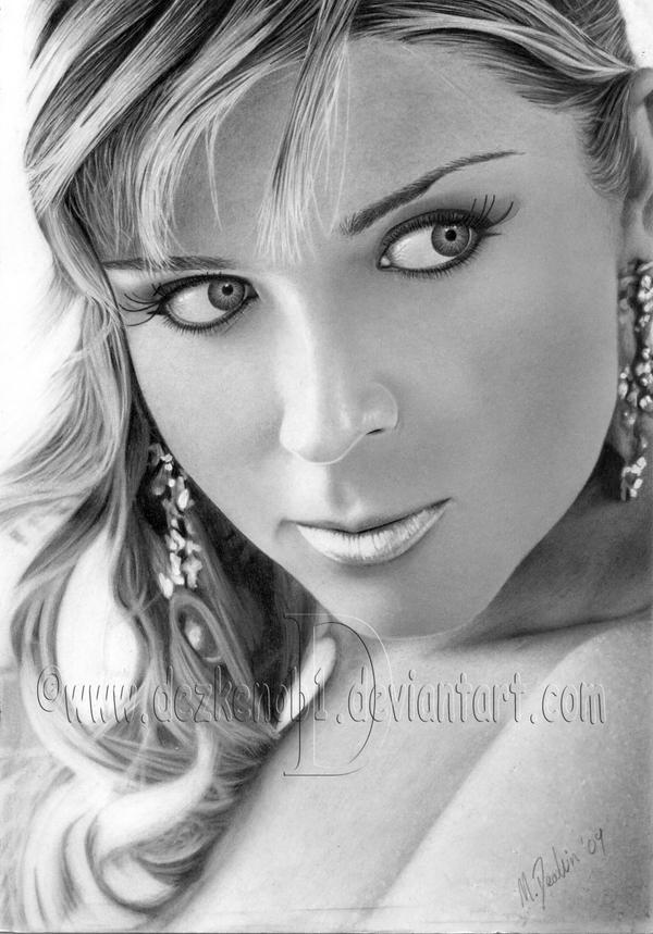 A woman's look Pencil Drawing by MattDeakinFineArt