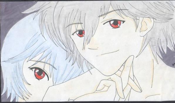 Rei and Kaworu