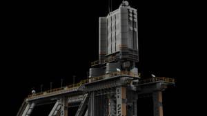 scifi radar tower by chtazi