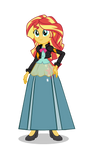 Sunset In Sparkle's Outfit Form by CartoonMasterV3