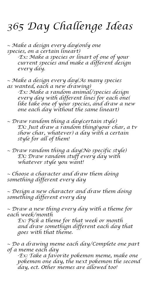 365 Day Art Challenge Ideas By Keyoto TheFox