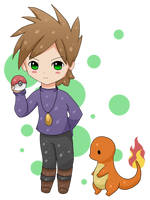 .:Pokemon Adventures- Green:. by Salacberry