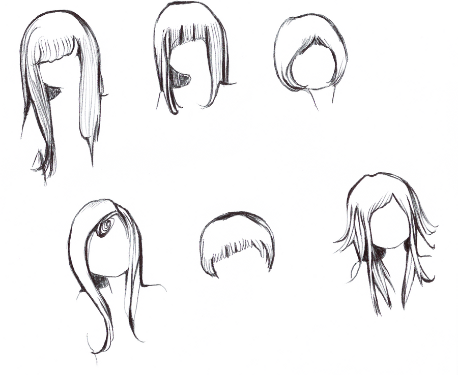 hairstyles sketches by Hyoko-x3 on DeviantArt