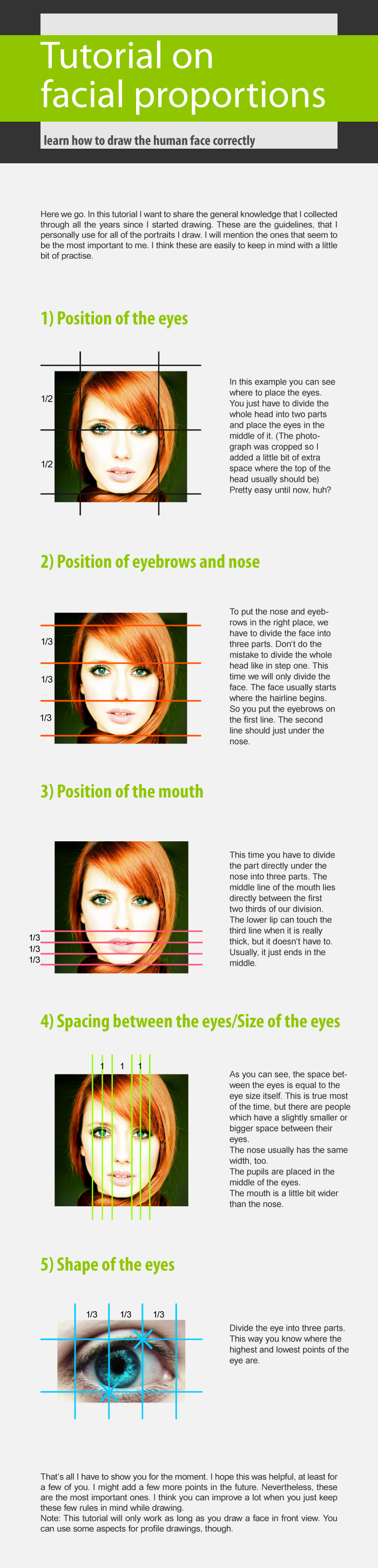 Tutorial on facial proportions by Hyoko-x3