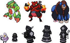 some recent sprites by Pixel--Pete