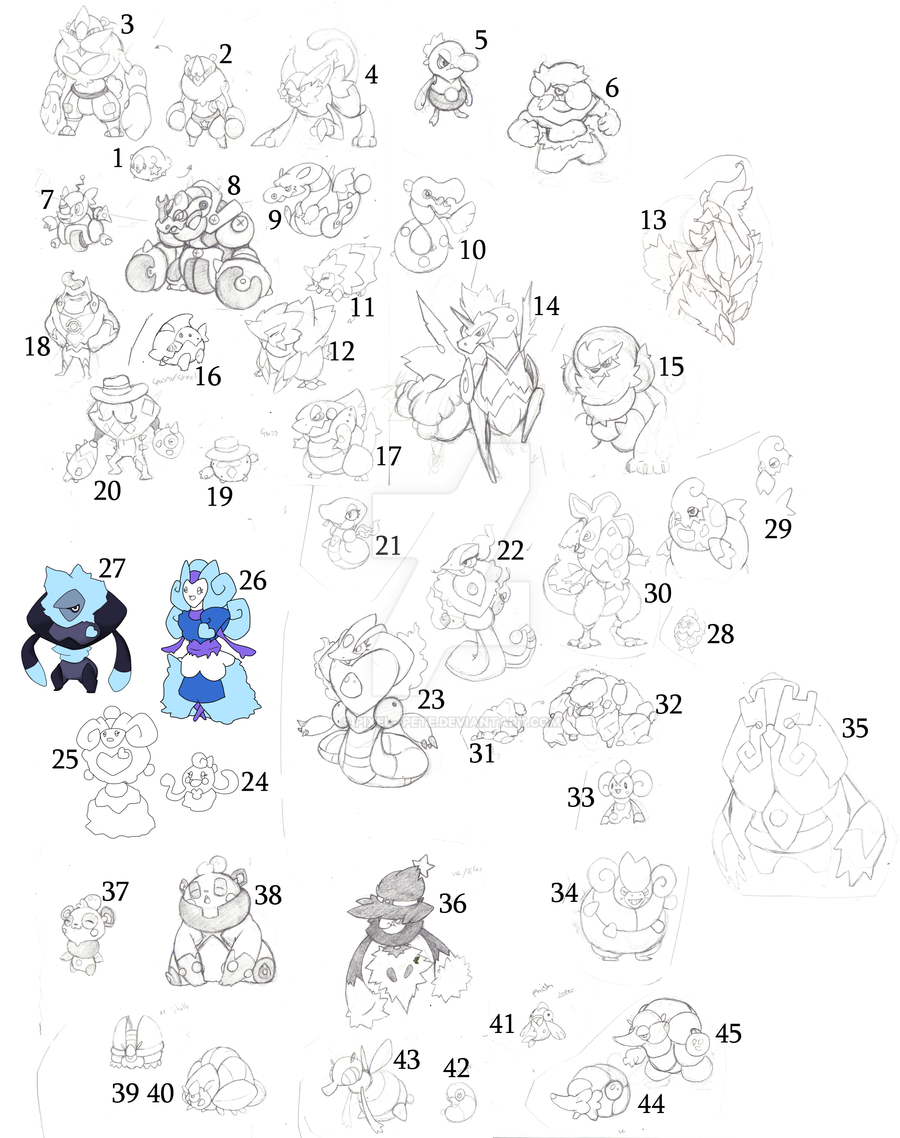 BIG Sketch Dump 45 FAKES by Pixel--Pete