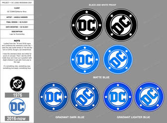 DC Comics Logo Redesign 2021 by ToonGrin