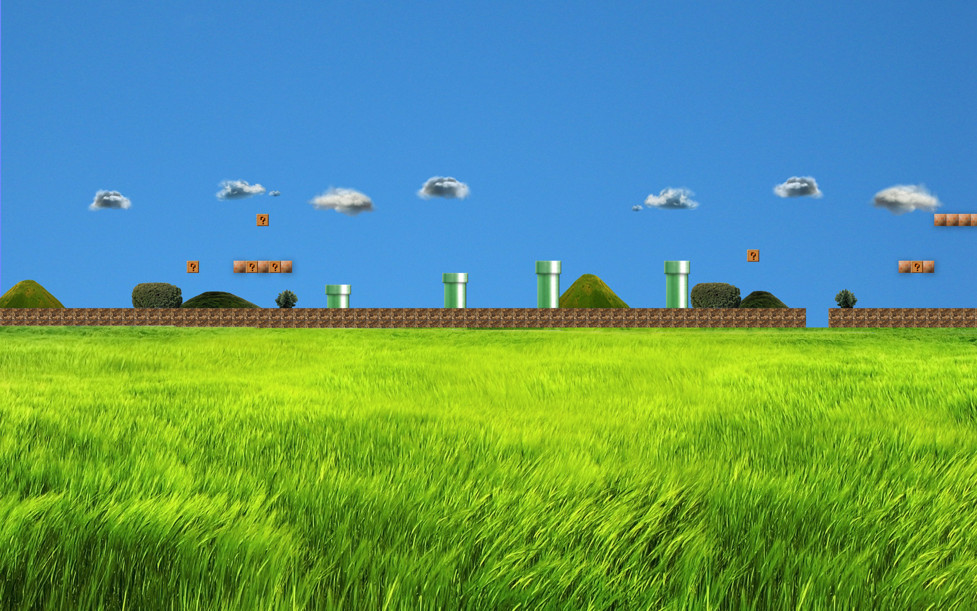 Realistic Super Mario Bros 1 first stage Wallpaper by trollkarl3