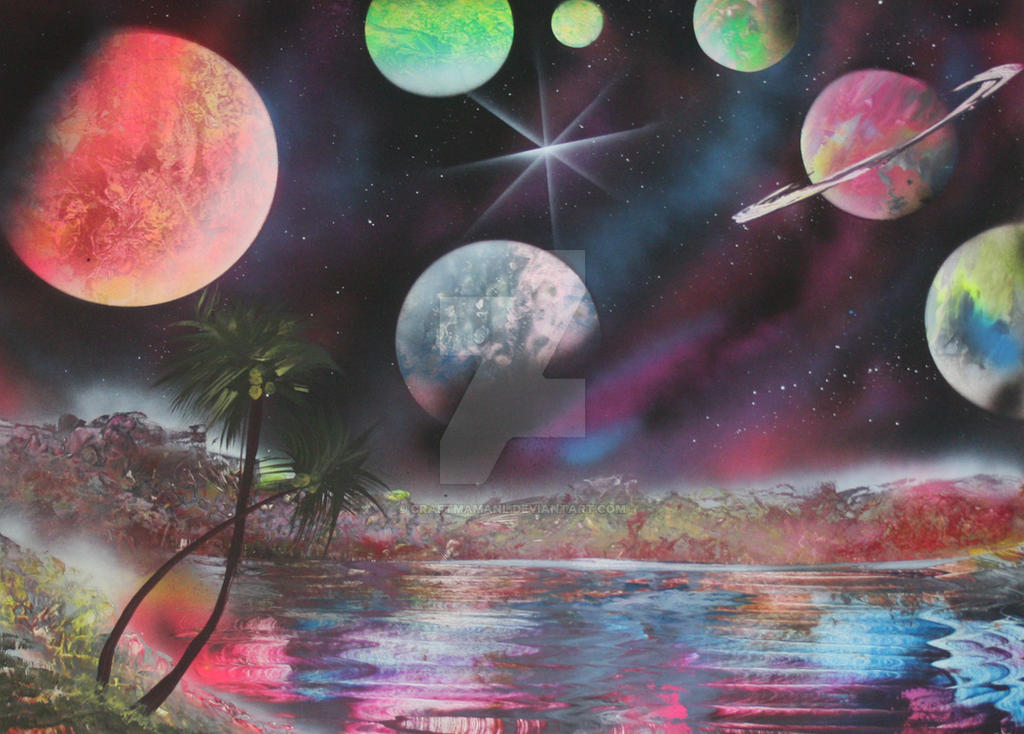Spray Paint Art Boat Space