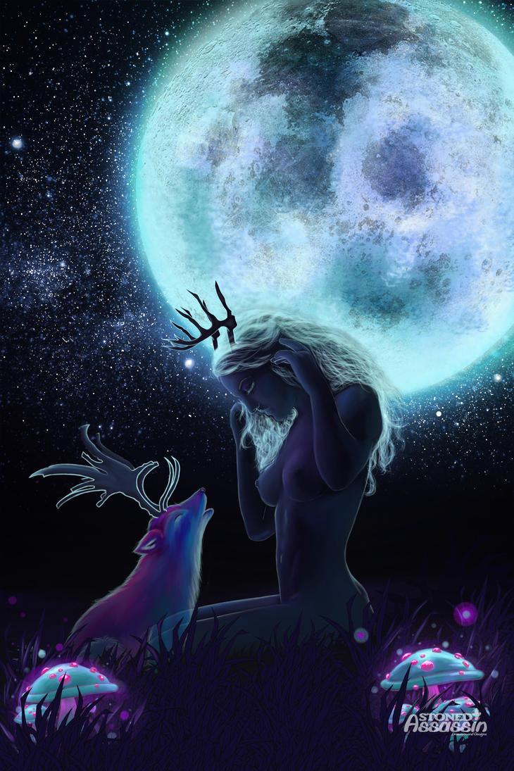 Moon spirit by STONEDAssassin69