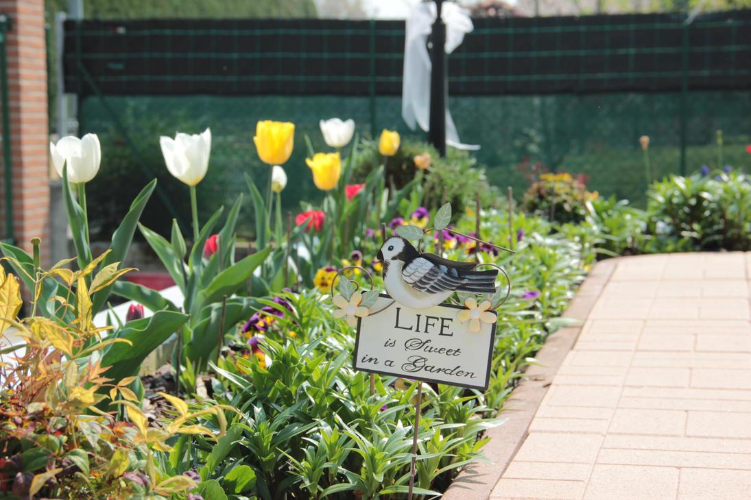Life is sweet in garden by MastroPeracottaro