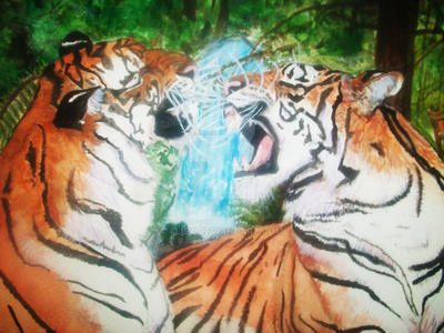 Two Tigers by 4lisx