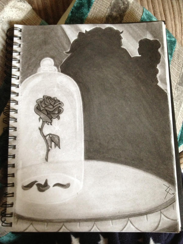 Enchanted Rose Drawing: The Enchanted Rose By 4lisx On DeviantArt