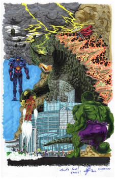 Godzilla at Wondercon day version