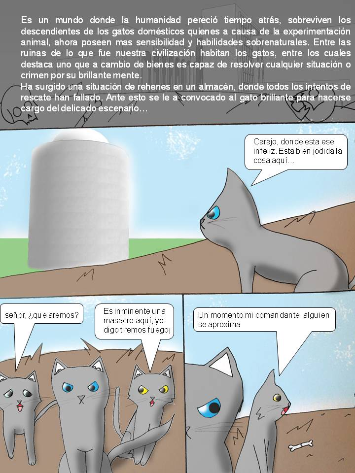 GATOS DEL POST APOCALIPSIS 001 by Catsofdeath