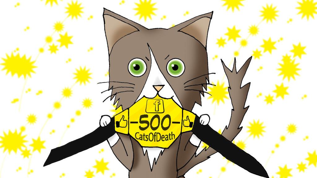 500 likes en Facebook by Catsofdeath
