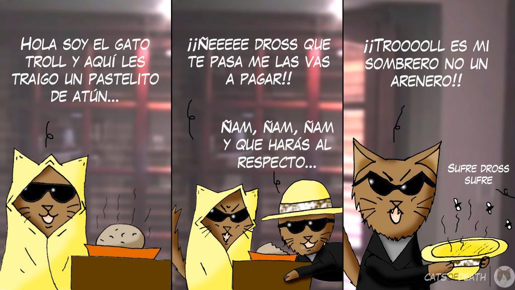 El pastel del  Gato Troll by Catsofdeath