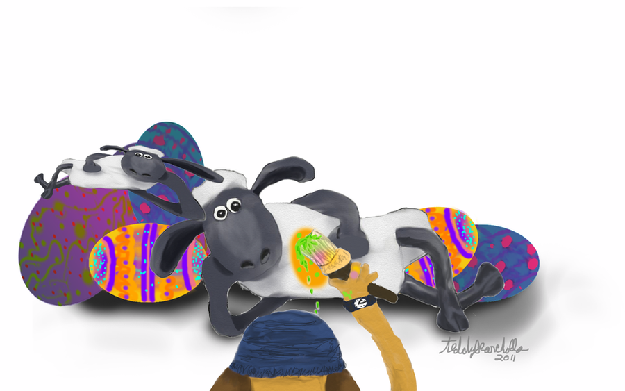 The weird Easter eggs by teddybearcholla