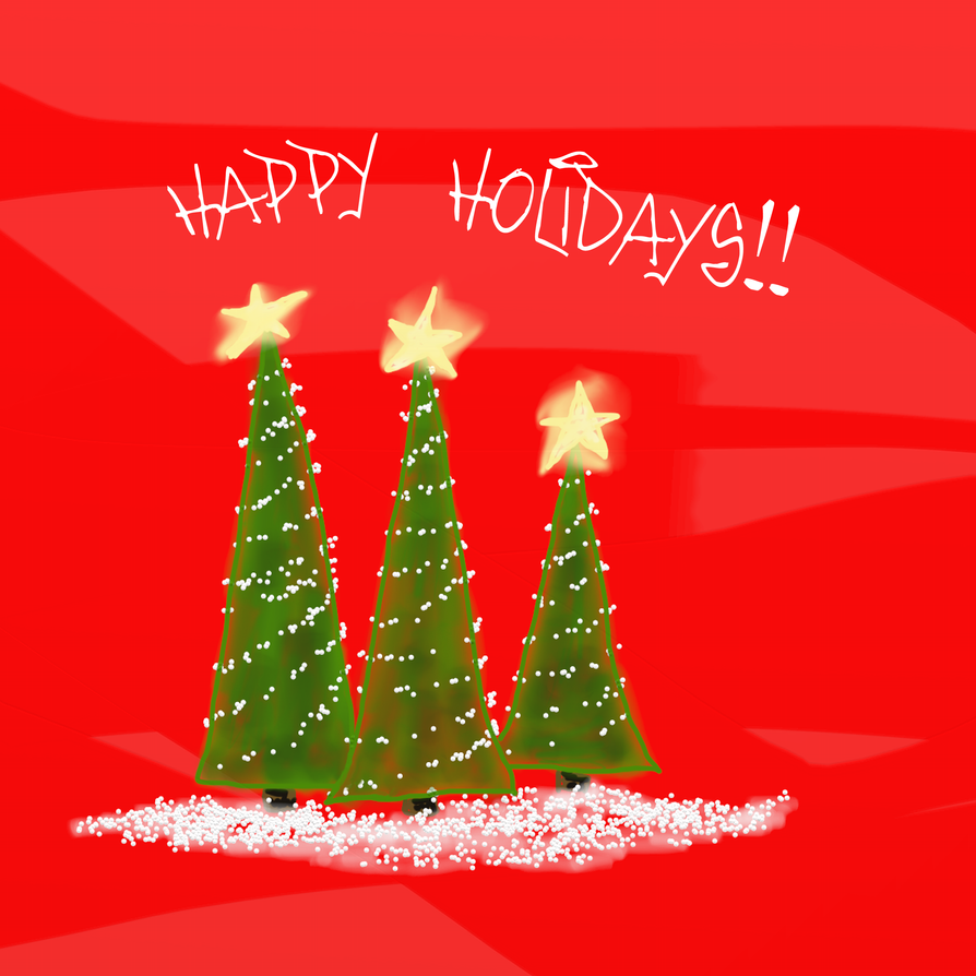 Happy Holidays card by teddybearcholla on DeviantArt