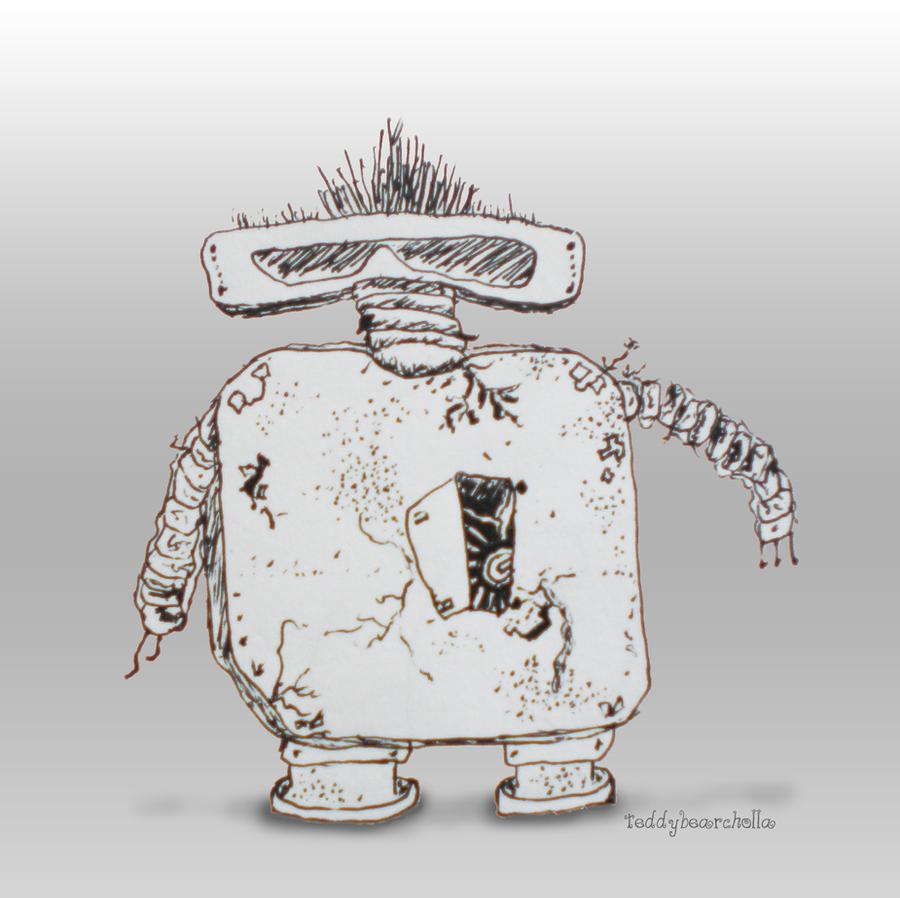 Art, the punk rocker robot by teddybearcholla