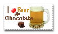 Beer and chocolate by teddybearcholla