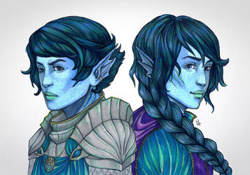 Tallin and Elyon by Vicdin