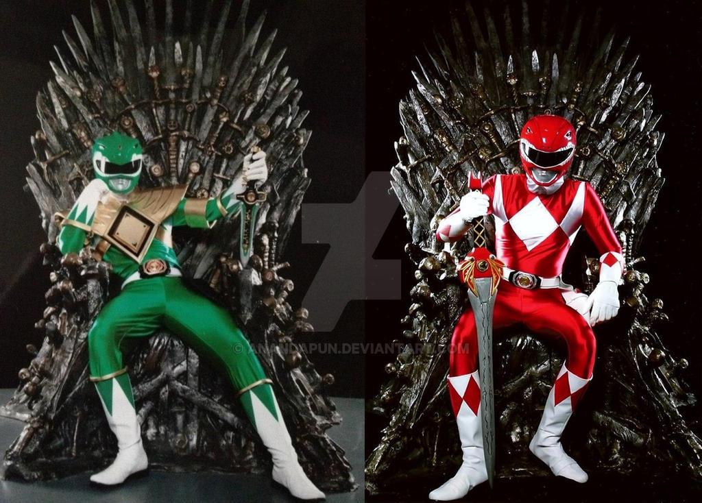 green ranger and ranger thrones lol by anandapun on deviantart