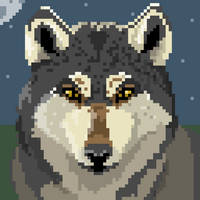 Wolf Glare (64x64 Pixel) by red-embers