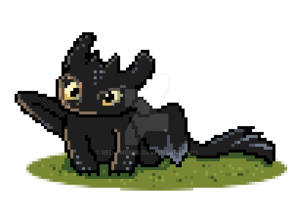 Lovely Pixel Toothless By Red Embers ...