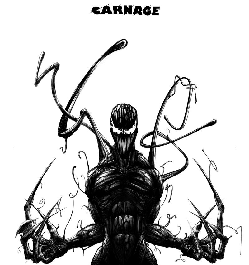 Spiderman vs carnage drawings - photo#42