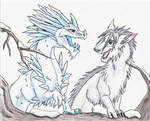 when ice meets snow by padfoot2012