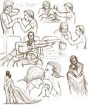 sabriel fluff sketchdumpish