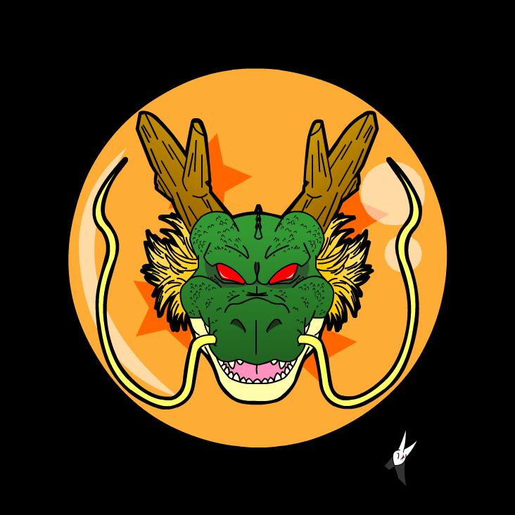 shenlong head logo   dragon ball z by kaji zu on deviantart writers clip art free writing clip art