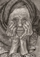 Old Indonesian woman. by Julia-R-Ch