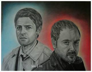 Castiel and Crowley. Supernatural. by Julia-R-Ch