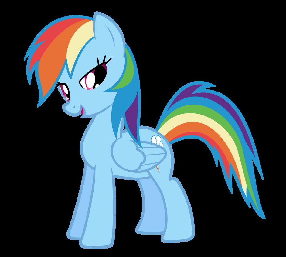 Rainbow Dash Standing by adamlhumphreys