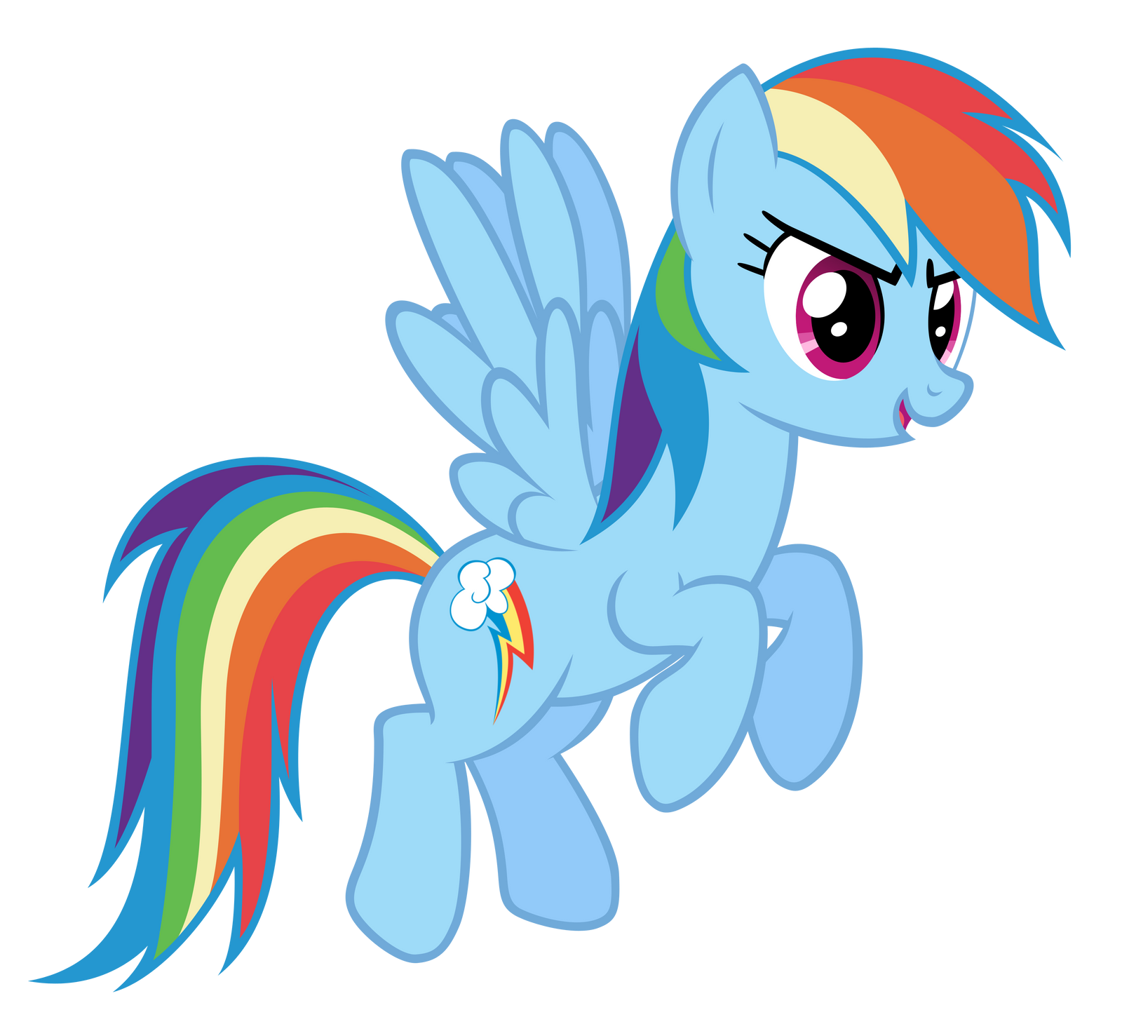 Rainbow Dash Flying by adamlhumphreys