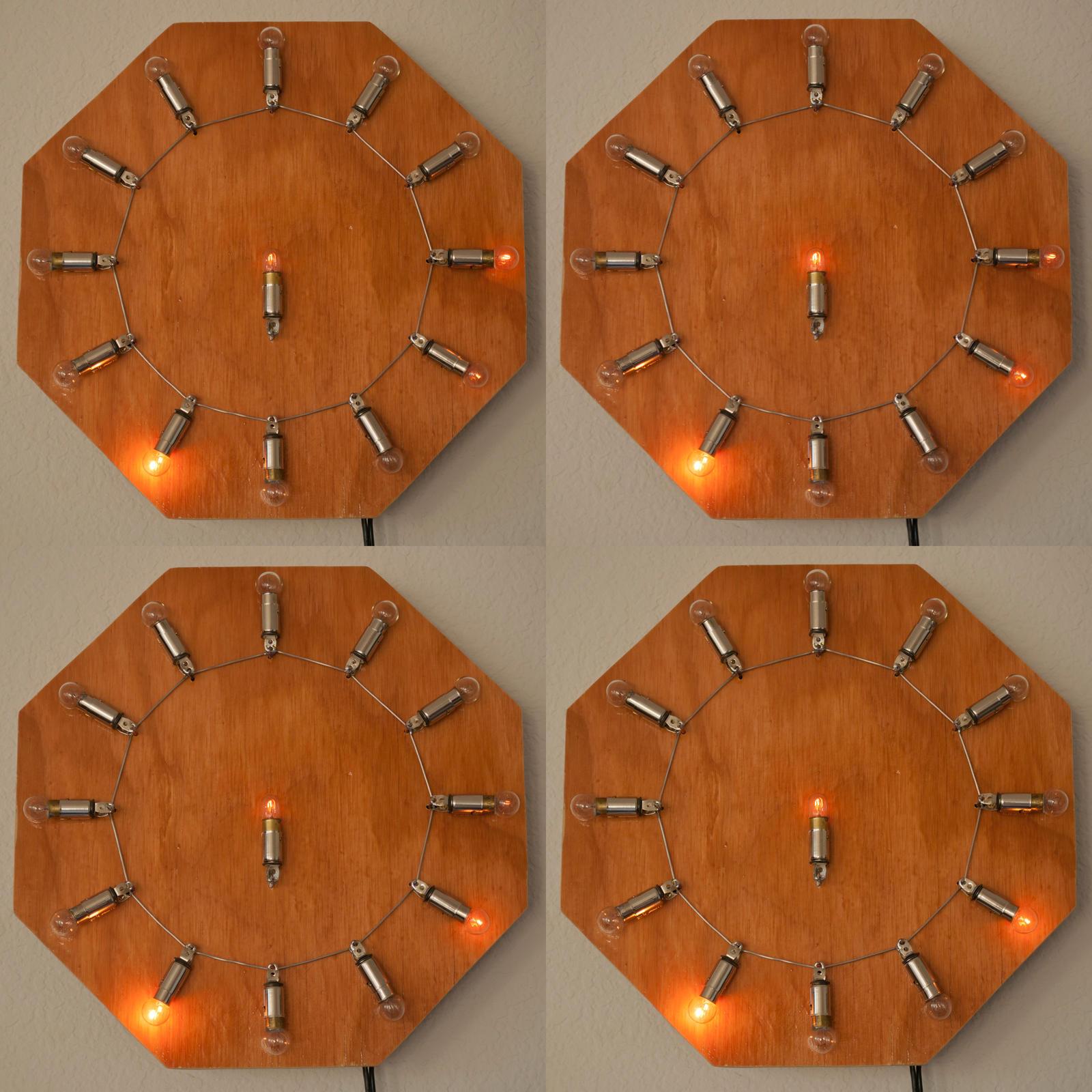 World's First(?) Incandescent Analog Clock by adamlhumphreys