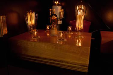 Candelabra Light Bulb Display