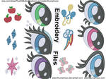 Mane 6 Embroidery Design Value Pack (Design Prevs)