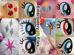 Mane 6 Embroidery Design Value Pack (Photo Ref)