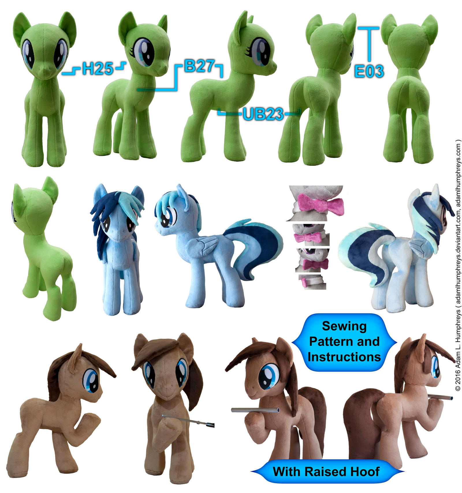 Pony Mare Stallion Plushie Sewing Pattern 27 by adamlhumphreys