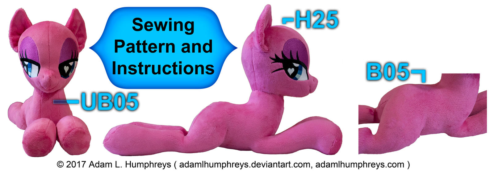 Pony Mare Laying Plushie Pattern 05