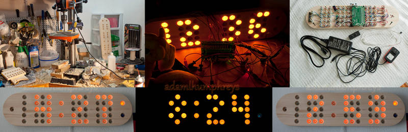 Protean8x2 Remote Controlled Incandescent Clock